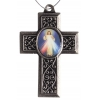 Cross Divine Mercy Antique Silver